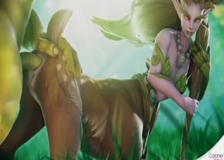 Centaur beauty getting fucked by an ork