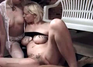 Lesbian interlude for a zoo sex video